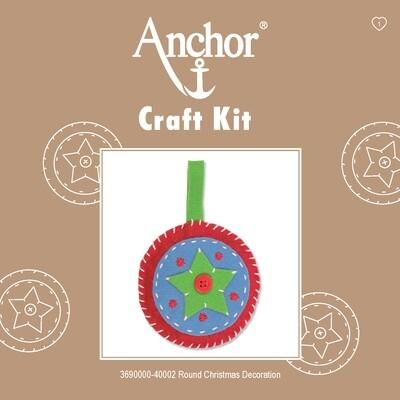 Anchor 1st Kit - Round Xmas Decoration