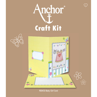 Anchor Craft Kit - Baby Girl Card