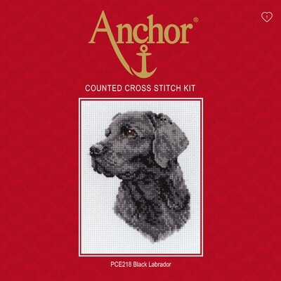 Anchor Essentials Cross Stitch Kit - Black Labrador