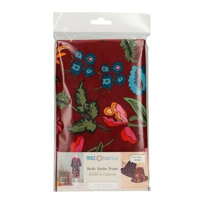 Pre-Cut Jersey - Arne & Carlos - Nordic Garden Dream - Stauder - Red (50 x 148 cm)