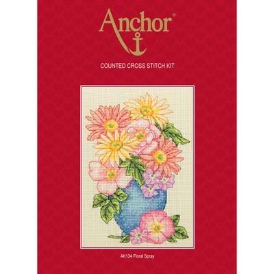Anchor Starter Cross Stitch Kit - Floral Spray