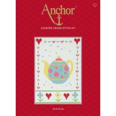 Anchor Starter Cross Stitch Kit - Tea Set