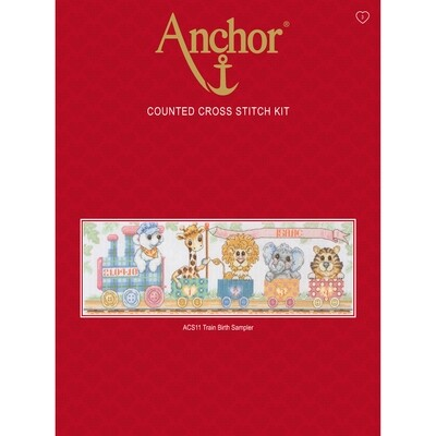 Anchor Essentials Cross Stitch Kit - Train Birth Sampler