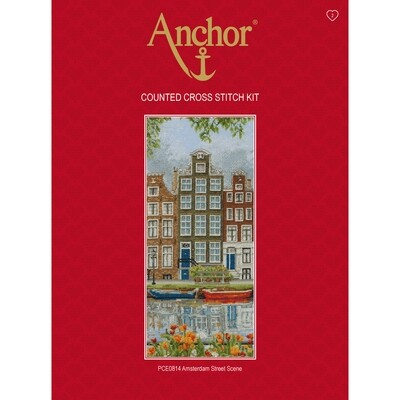 Anchor Essentials Cross Stitch Kit - Amsterdam Street Scene
