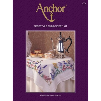 Anchor Essentials Freestyle Kit - Spring Flower Tablecloth