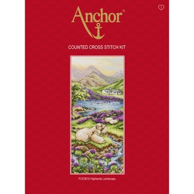 Anchor Essentials Cross Stitch Kit - Highlands Landscape