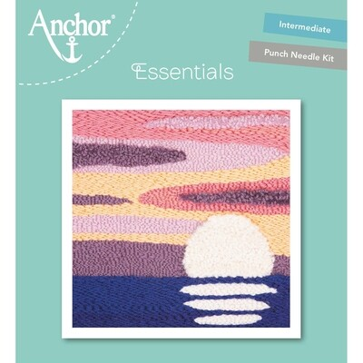 Anchor Essentials Punch Needle Kit - Tranquil ocean (15 x 15 cm)