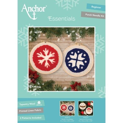 Anchor Essentials Punch Needle Kit - Nordic Snowflakes