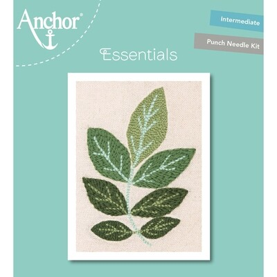 Anchor Essentials Punch Needle Kit - Ash leaf (20 cm)