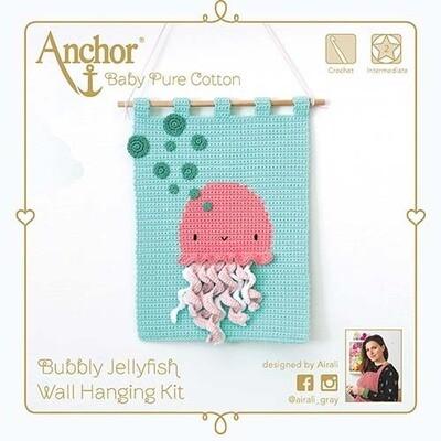 Kit Crochet Anchor - Medusa Borbulhante 3D para pendurar na parede