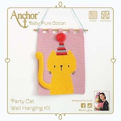 Kit Crochet Anchor - Gato Festivo 3D para pendurar na parede