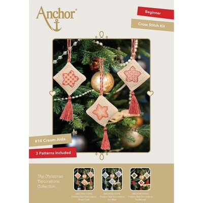 The Christmas Decorations Collection - Festive Star Decoration Rose Gold