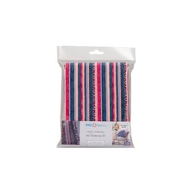 Pre-Cut Cotton - Dee Hardwicke - Triangle & Stripes - Fuchsia (100 x 145 cm)