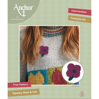 Anchor by Dee Hardwicke - Pink Flower Freestyle Kit