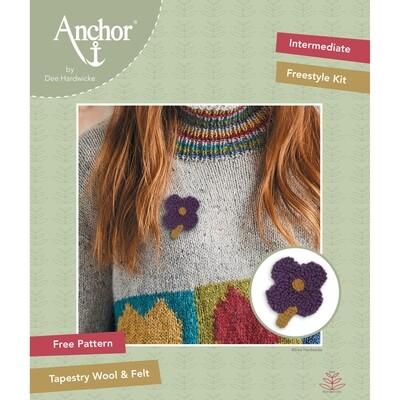 Anchor by Dee Hardwicke - Plum Flower Freestyle Kit