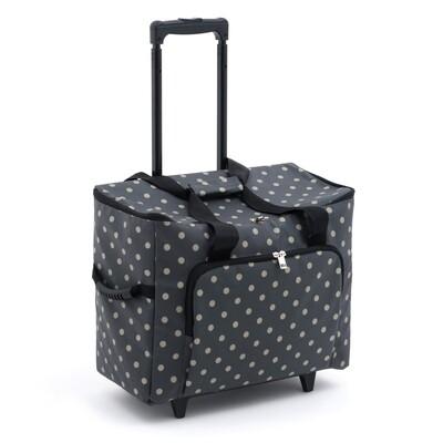 Sewing Machine Trolley Bag - Charcoal Spot