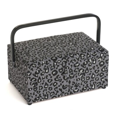 Sewing Box Cantilever Large - Leopard