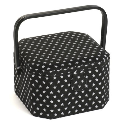Sewing Box Bla octagonal - Black Star