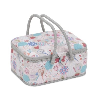 Sewing Box Twin Handle Oval - Notions