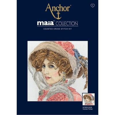 Maia Cross Stitch Kit - Victorian Portrait
