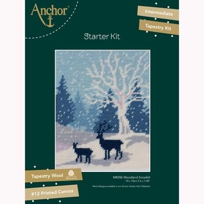 Kit de Iniciação de Tapeçaria Anchor - Queda de Neve no Bosque