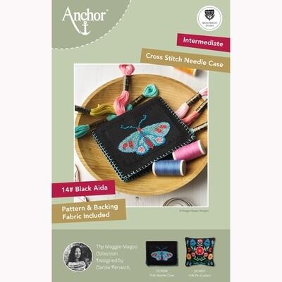 Kit de Ponto de Cruz Anchor Essentials - Caixa de agulhas Folk