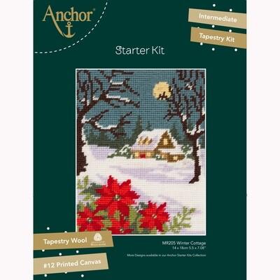 Kit de Iniciação de Tapeçaria Anchor - Casa de Campo de Inverno