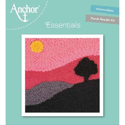 Anchor Essentials Punch Needle Kit - Tranquil tree (15 x 15 cm)