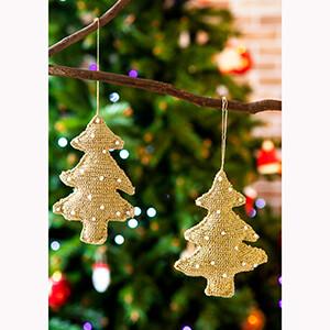 Modelo Árvores de Natal Douradas