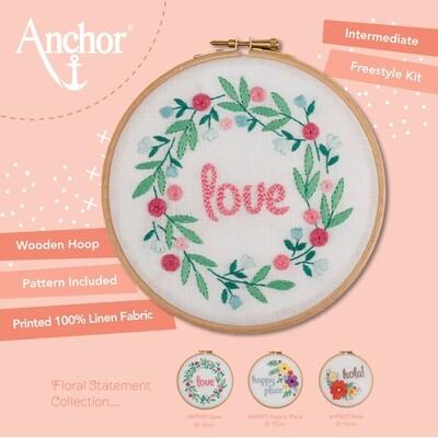 Kit de Iniciação de Estilo Livre Anchor - Bastidor Love