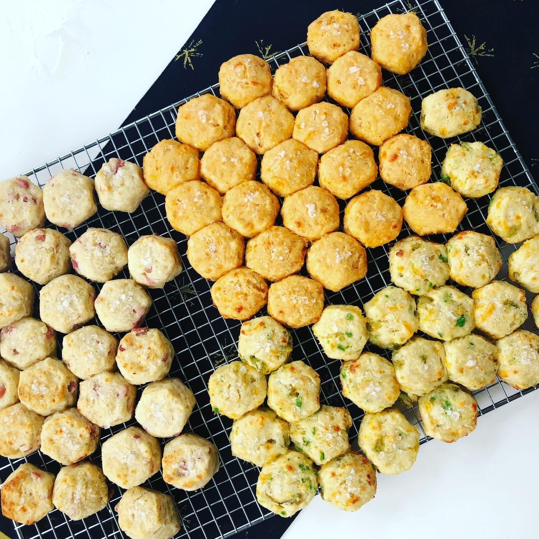 Two Dozen Mini Biscuits Single Flavor
