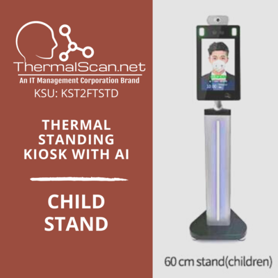 Child Stand for Temperature Scanning Kiosk
