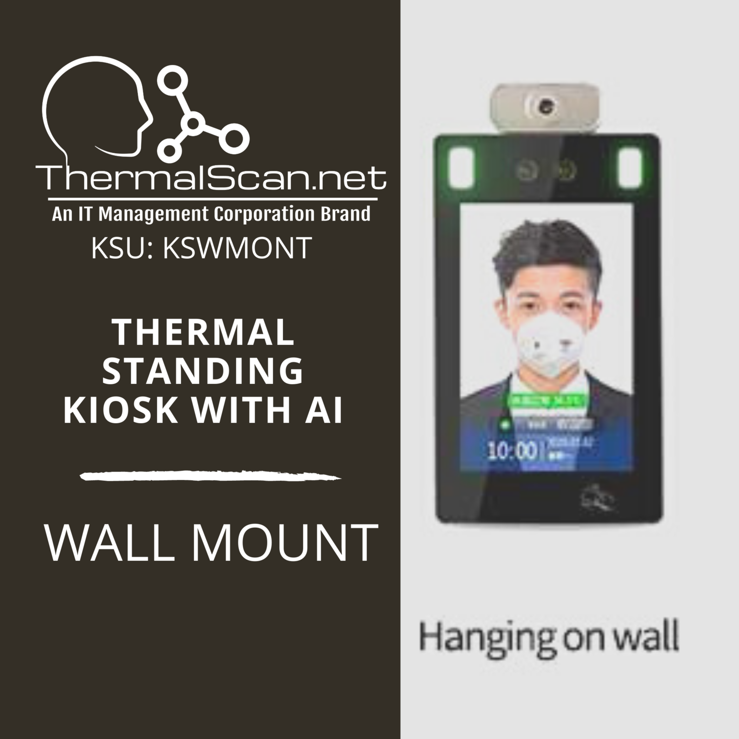 Wall Mount Stand for Temperature Scanning Kiosk