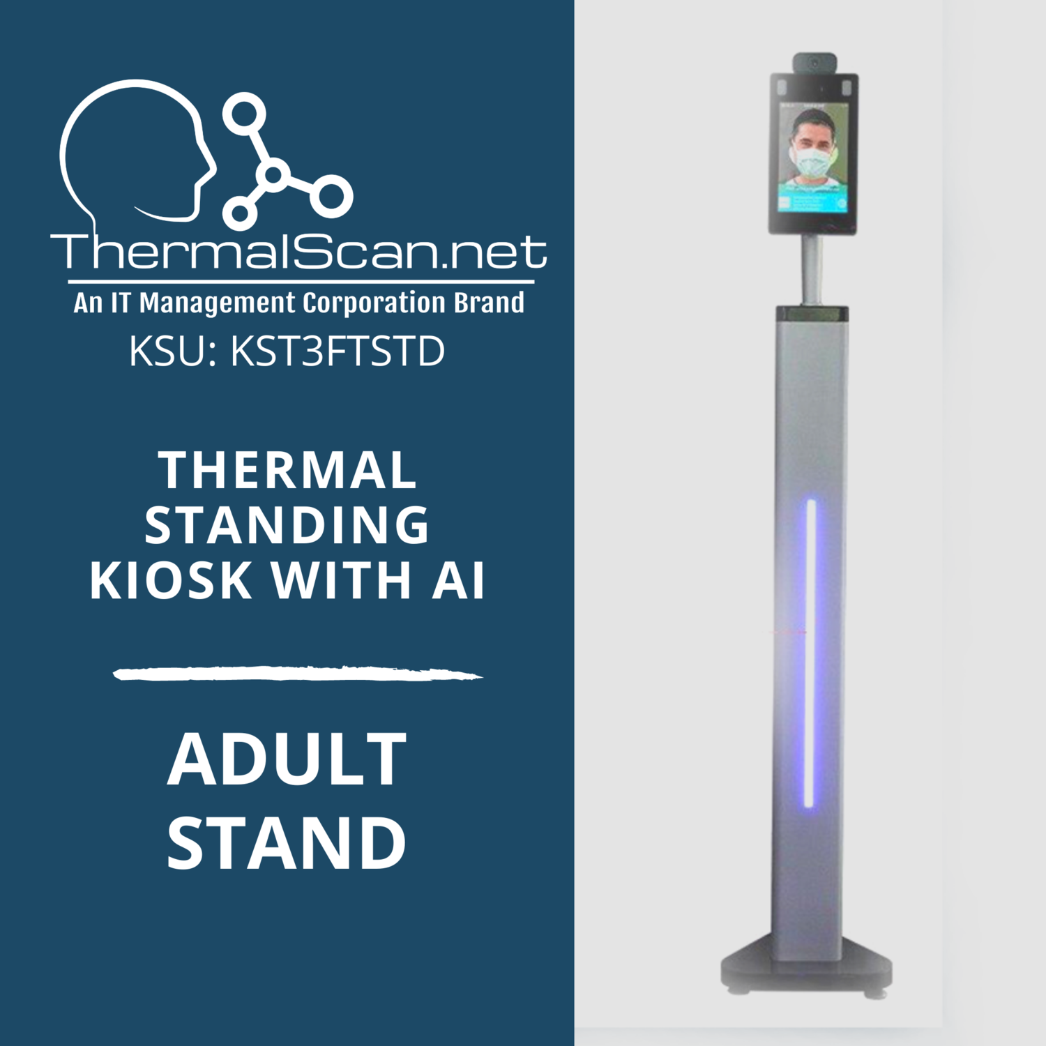 Adult Stand for Temperature Scanning Kiosk