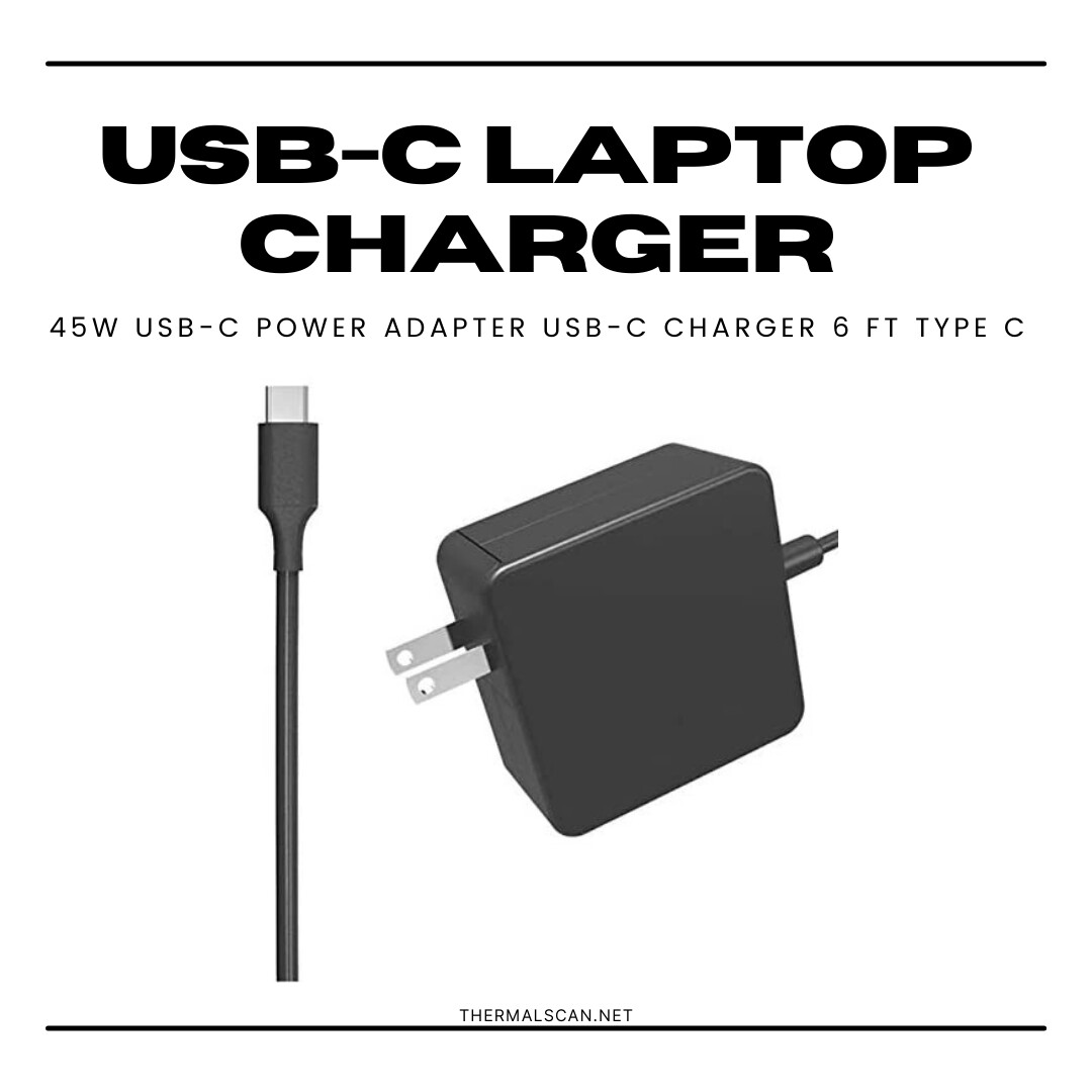 45W USB-C Power Adapter USB-C Charger - 6 ft - Type C
