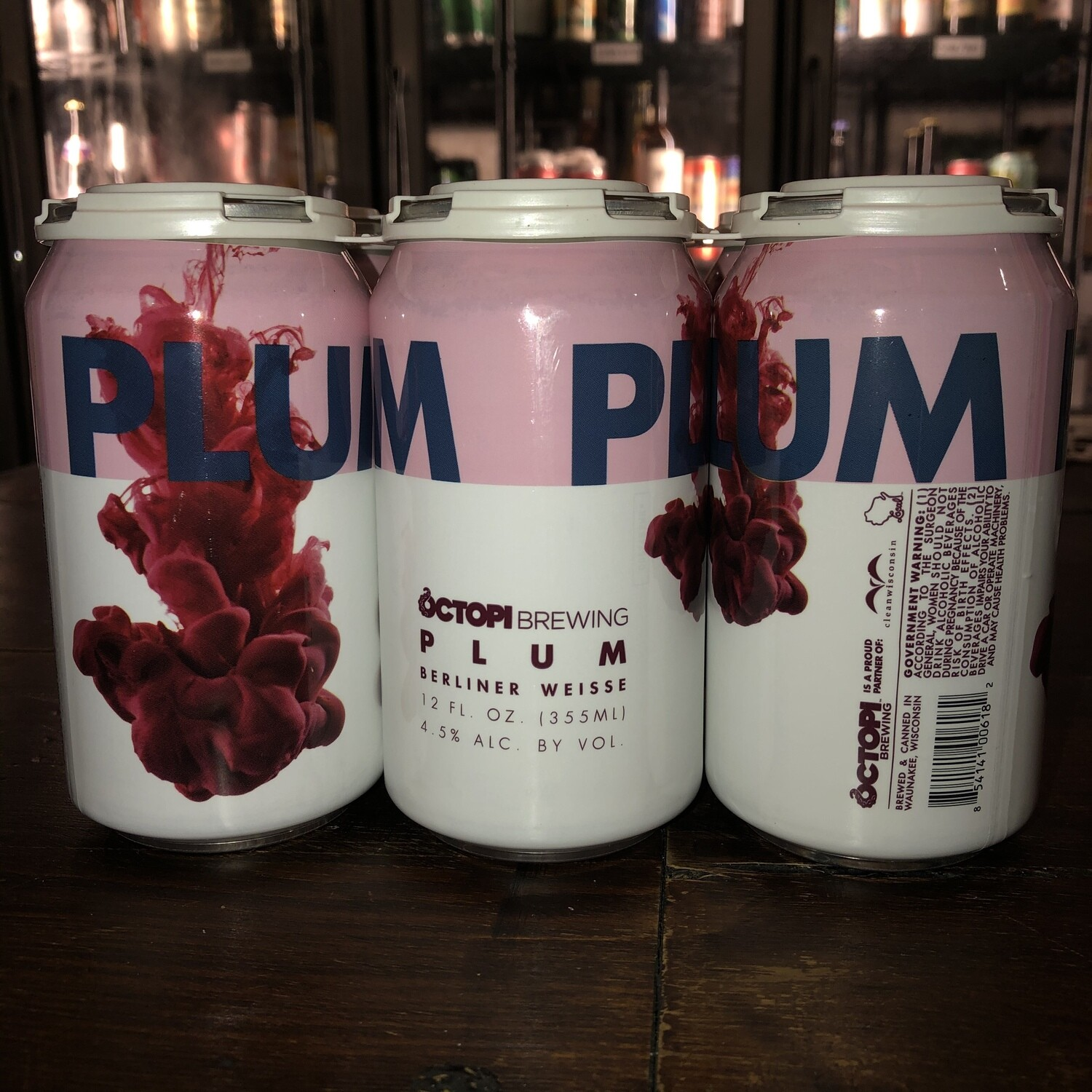 Octopi Brewing - Plum Berliner Weisse (6-Pack)