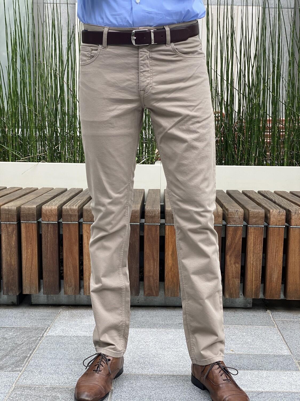 Teleria Italia Cotton Stretch Jeans - Khaki