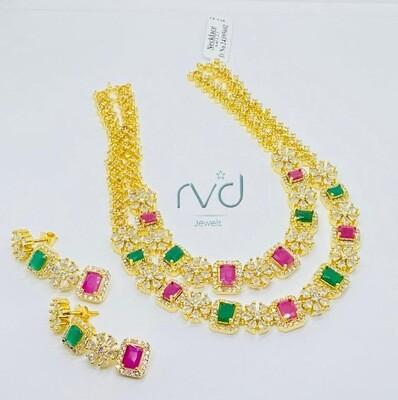 Cz Double Line Necklace