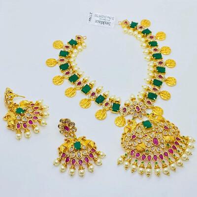 Ram Parivar Peacock Necklace Set