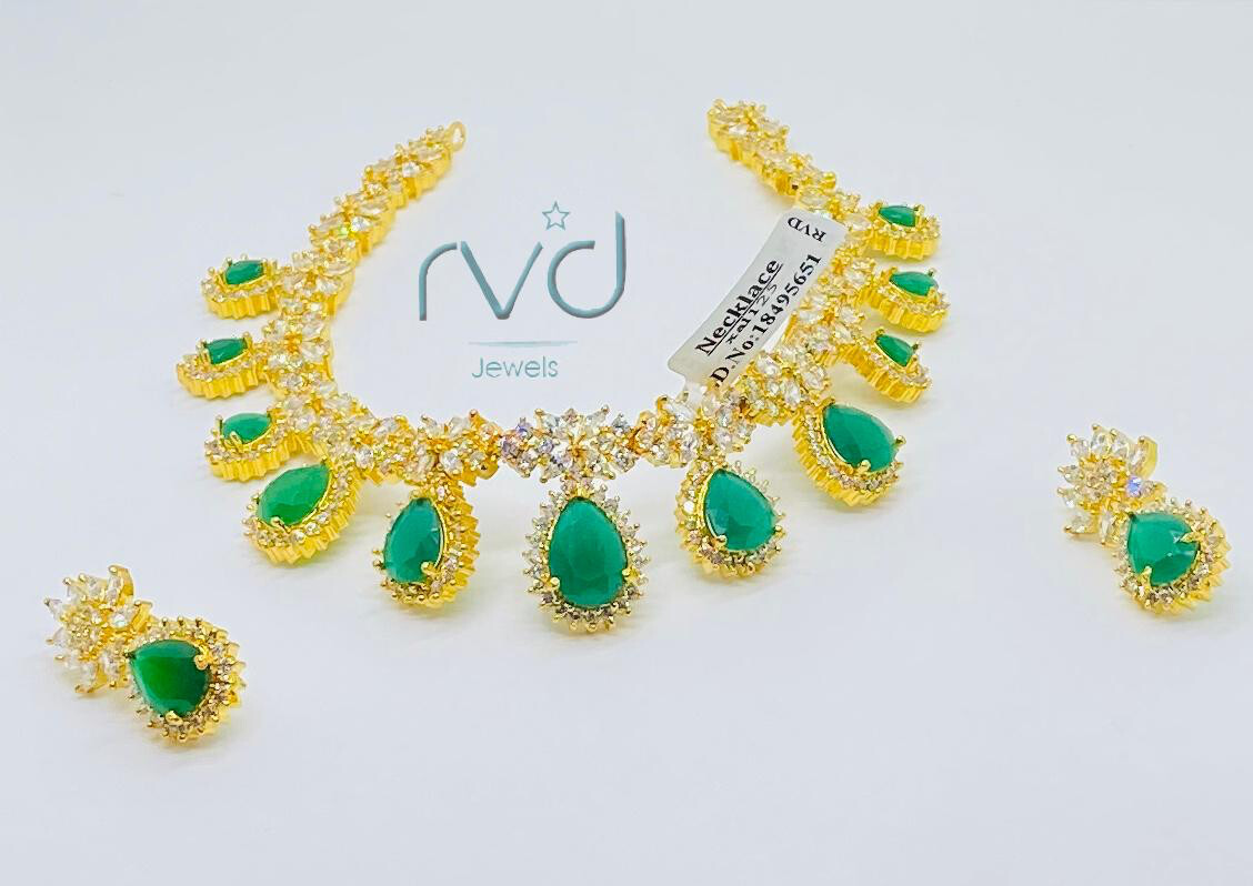 Cz Necklace Set