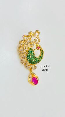 Cz Peacock Locket