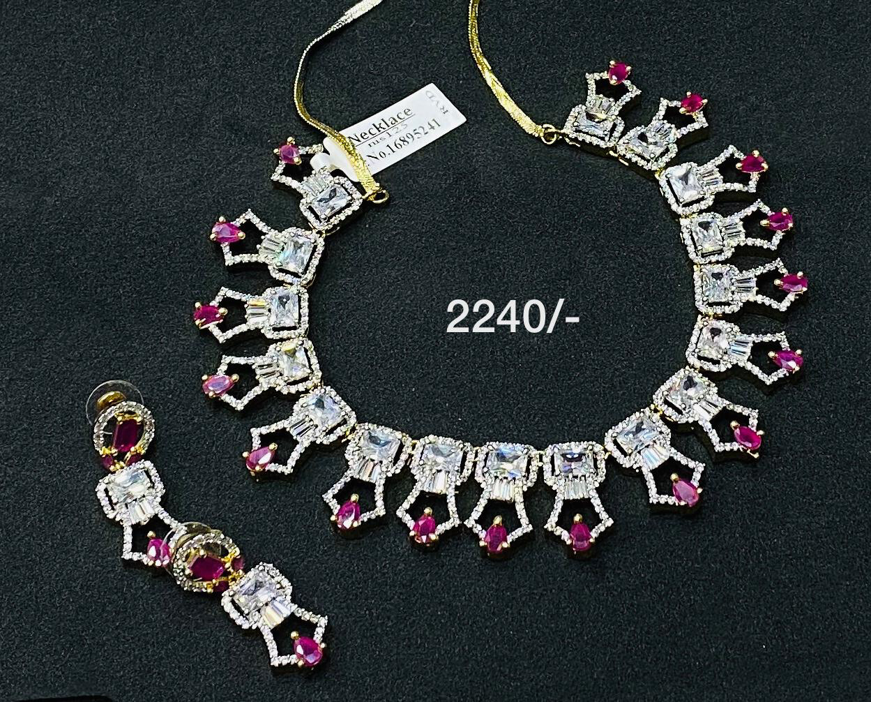 Cz Gj Polish Necklace Set