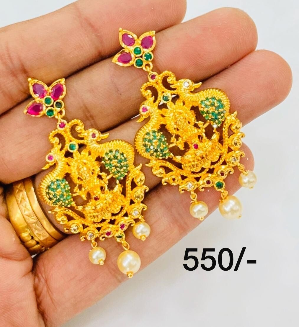 Cz Lakshmi Ear Hangings