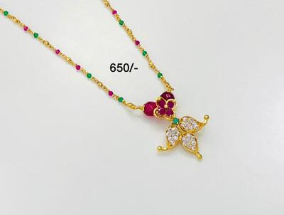 Cute Chain Ruby N Green Beads