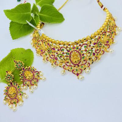 Cz Choker Necklace Set