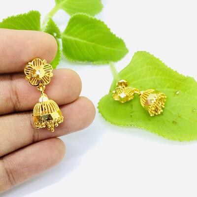 Gold Plated Jumka