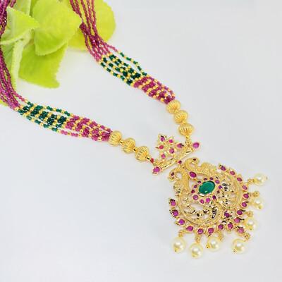 Beads With Cz Locket Set