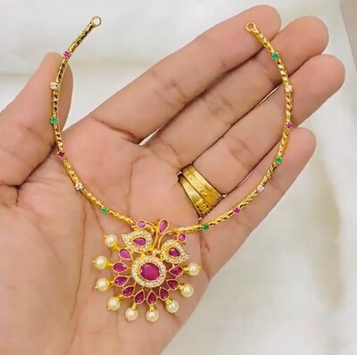 Kanti Necklace With Peacock Locket