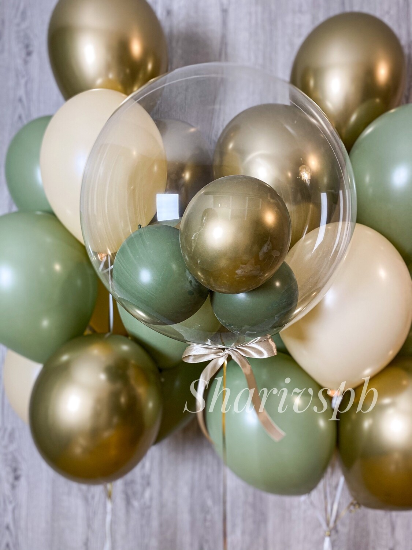 Набор шариков с необычным прозрачным шаром (баблс)