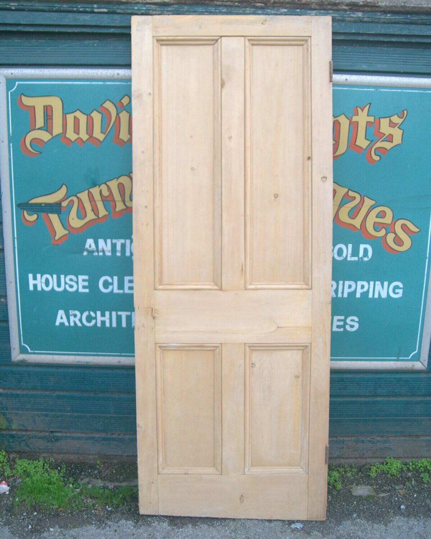 Victorian four panel stripped pine cottage bedroom door